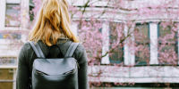 A picture of a girl with a backpack