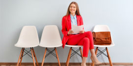 Woman on an interview