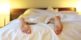 Exhausted Woman Sleeping