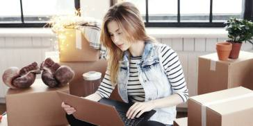 woman figuring out apartment expenses