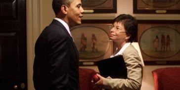 Valerie Jarrett and Barack Obama
