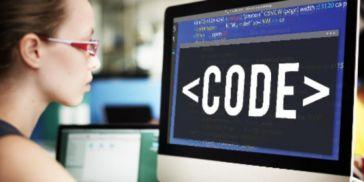 Woman coder