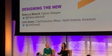 Julie Sweet, CEO of Accenture, North America, and fashion designer Rebecca Minkoff