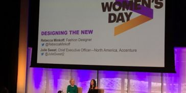 Accenture's Julie Sweet in conversation with Rebecca Minkoff at Accenture's International Women's Day event