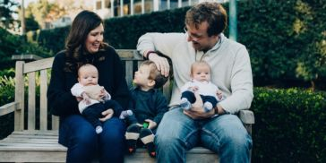 Mary Hamilton, Accenture Labs managing director, with her family