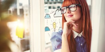 woman thinking about future