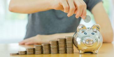 Retirement savings in jar