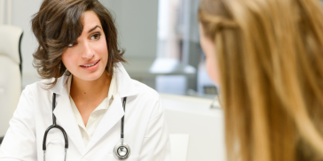 woman at doctor