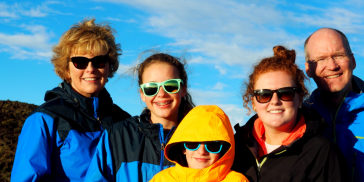 Joan K. Motsinger, Senior Vice President, Business Excellence at Seagate Technology, with her family