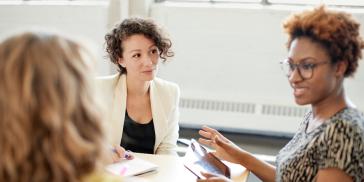 women negotiating salary