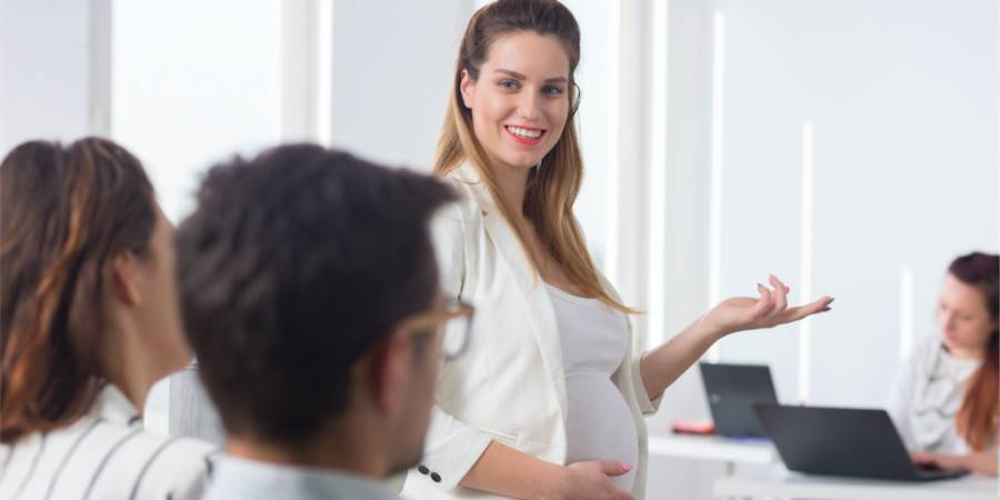 Pregnant Woman Networking