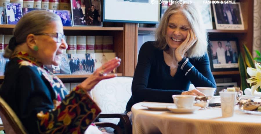 Ruth Bader Ginsberg and Gloria Steinhem