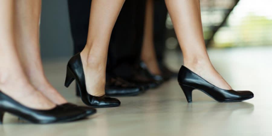 Women in work shoes