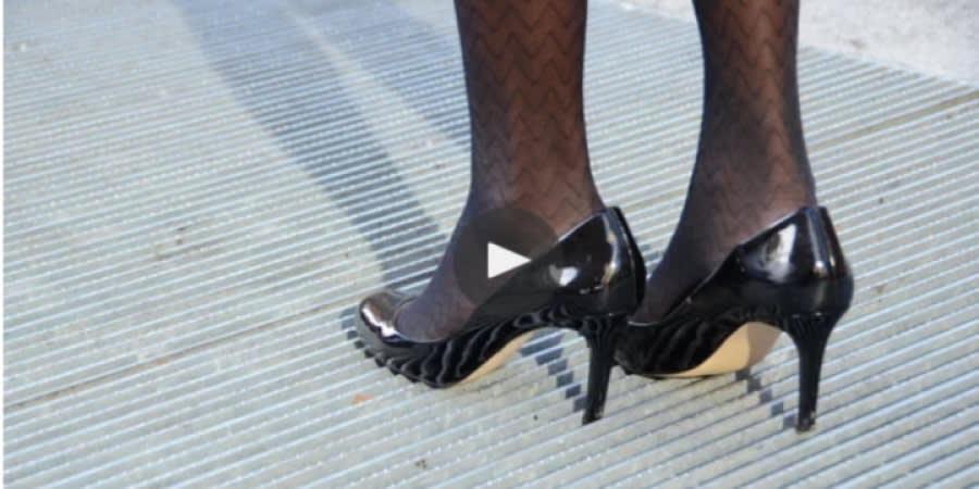 High heels on professional woman