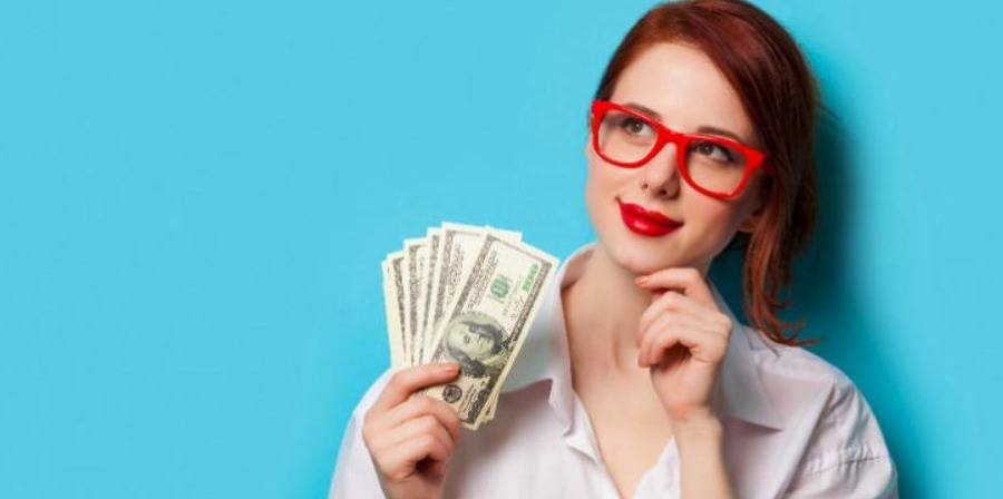 woman thinking about money