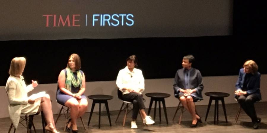Panelists at TIME Firsts launch event