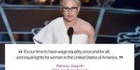 Patricia Arquette speech about Gender Equality