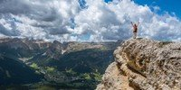 mountain climber at summit