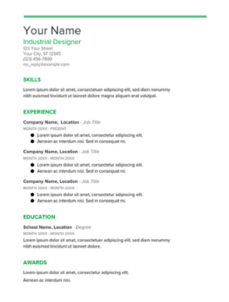 Google Docs Resume Template  Different Resume Templates