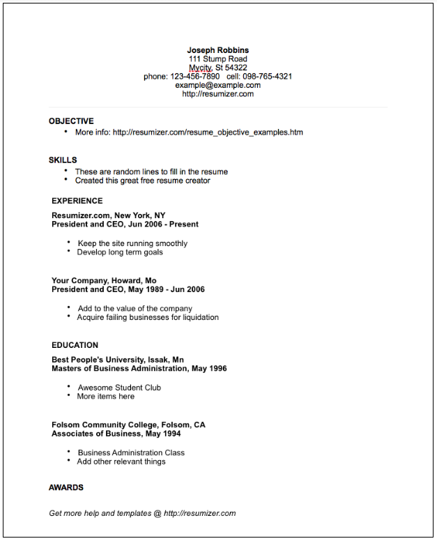 Good Resumes Template Demirediffusion