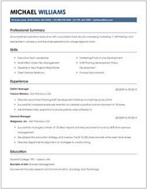 Resume Helpu0027s Resume Template