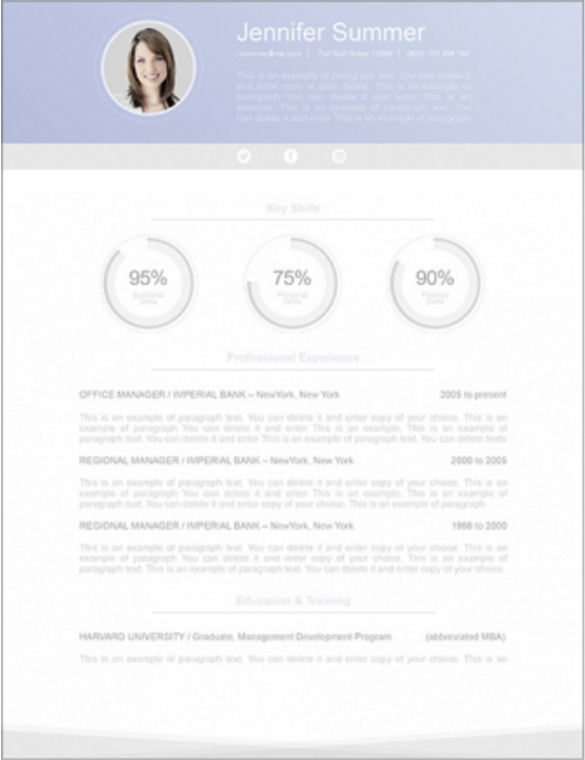 ResumeWay's resume template