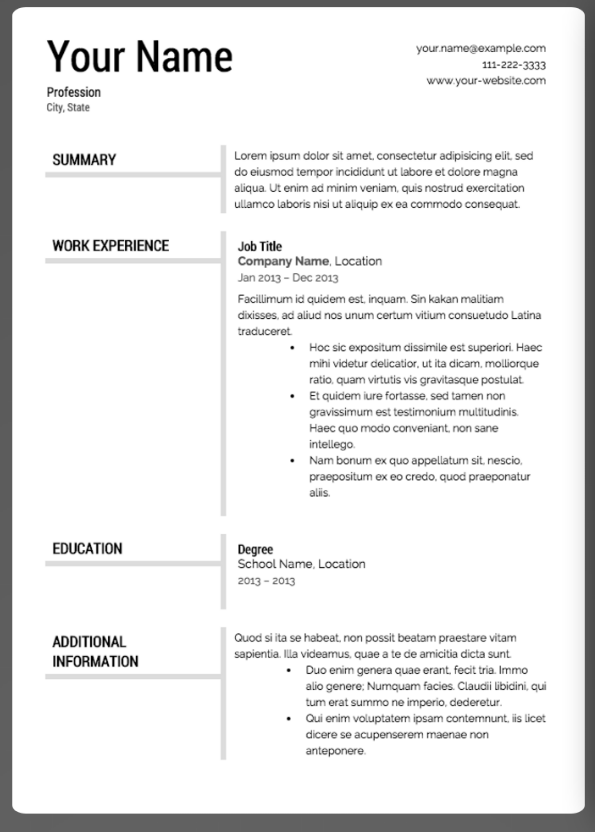 Super Resume Resume Template