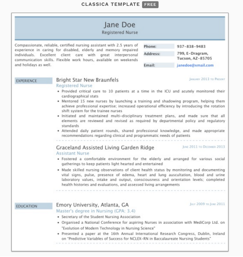 ResumeMonk resume template