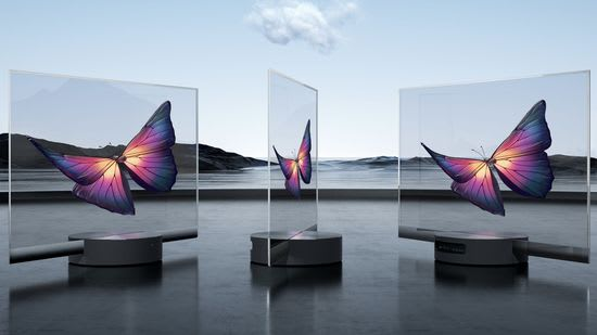 Transparent Xiomi Mi LUX OLED smart TV
