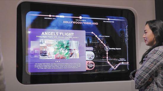 LG Smart Subway transparent display