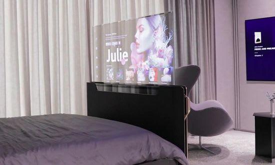 LG ces 2021 smart 55-in oled transparent TV