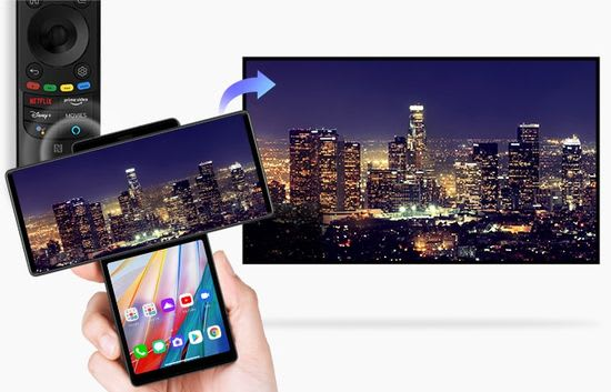 LG C1 OLED Magic Tap
