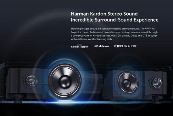 VAVA 4K projector Harman Kardon Sound Bar