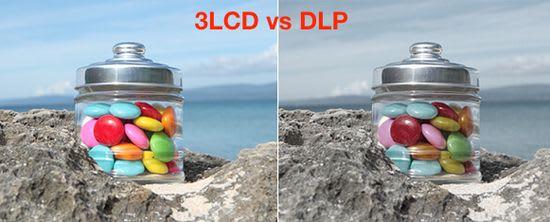 DLP vs 3LCD image brightness