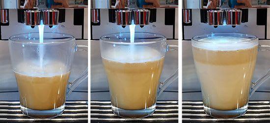 Jura Z10 Coffee with milk