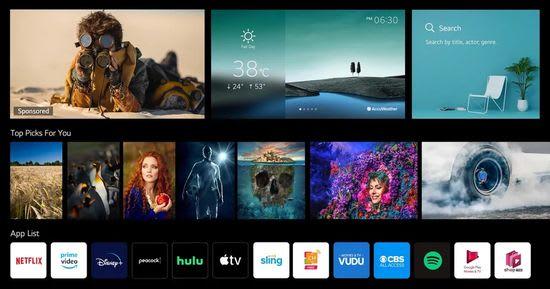 LG webOS 6 interface