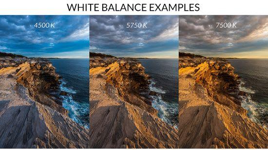 White balance examples