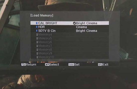 LS500 memory menu