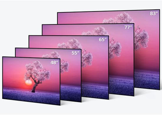 LG C1 OLED TV size