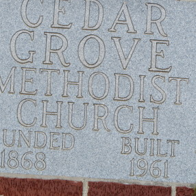 Cedar Grove United Methodist Church in Chuckey,TN 37641
