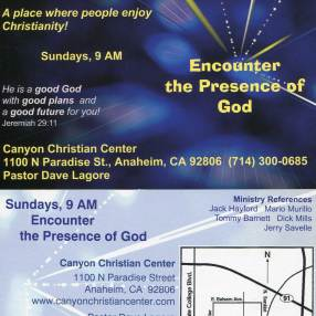 Canyon Christian Center in Anaheim,CA 92806-2219