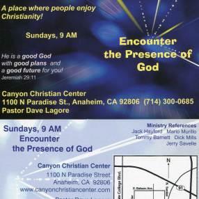 Canyon Christian Center in Anaheim,CA 92806-2219