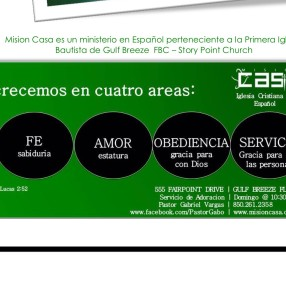"""Iglesia Bautista """"Mision Casa"""" in Gulf Breeze,FL 32561"""