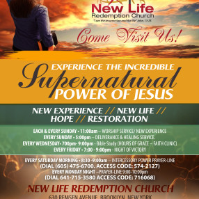 new life redemtion church  in BROOKLYN ,NY 11236