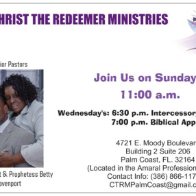 Christ The Redeemer Ministries in Palm Coast,FL 32164