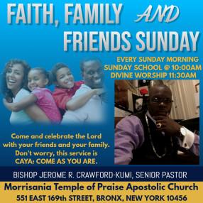 Morrisania Temple of Praise Apostolic Church (aka) MTOP Ministries in Bronx,NY 10456