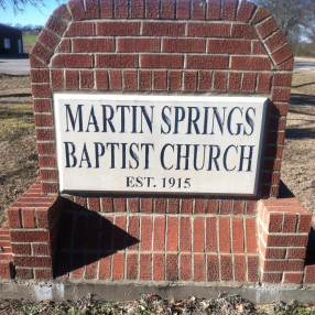 Martin Springs Baptist Church in Chandler,TX 75758