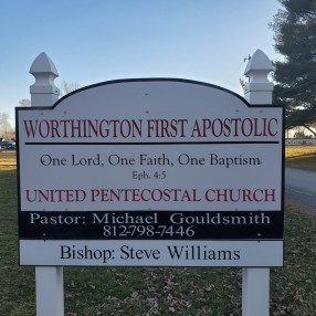 First Apostolic Church of Worthington in Worthington,IN 47471