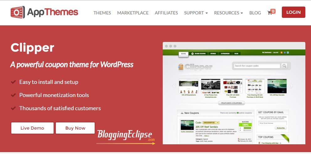 Clipper WordPress theme