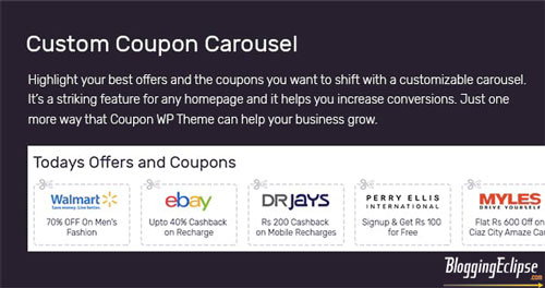 Custom Coupon slider